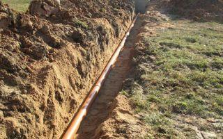 На какой глубине необходимо прокладывать водопроводную трубу для частного дома