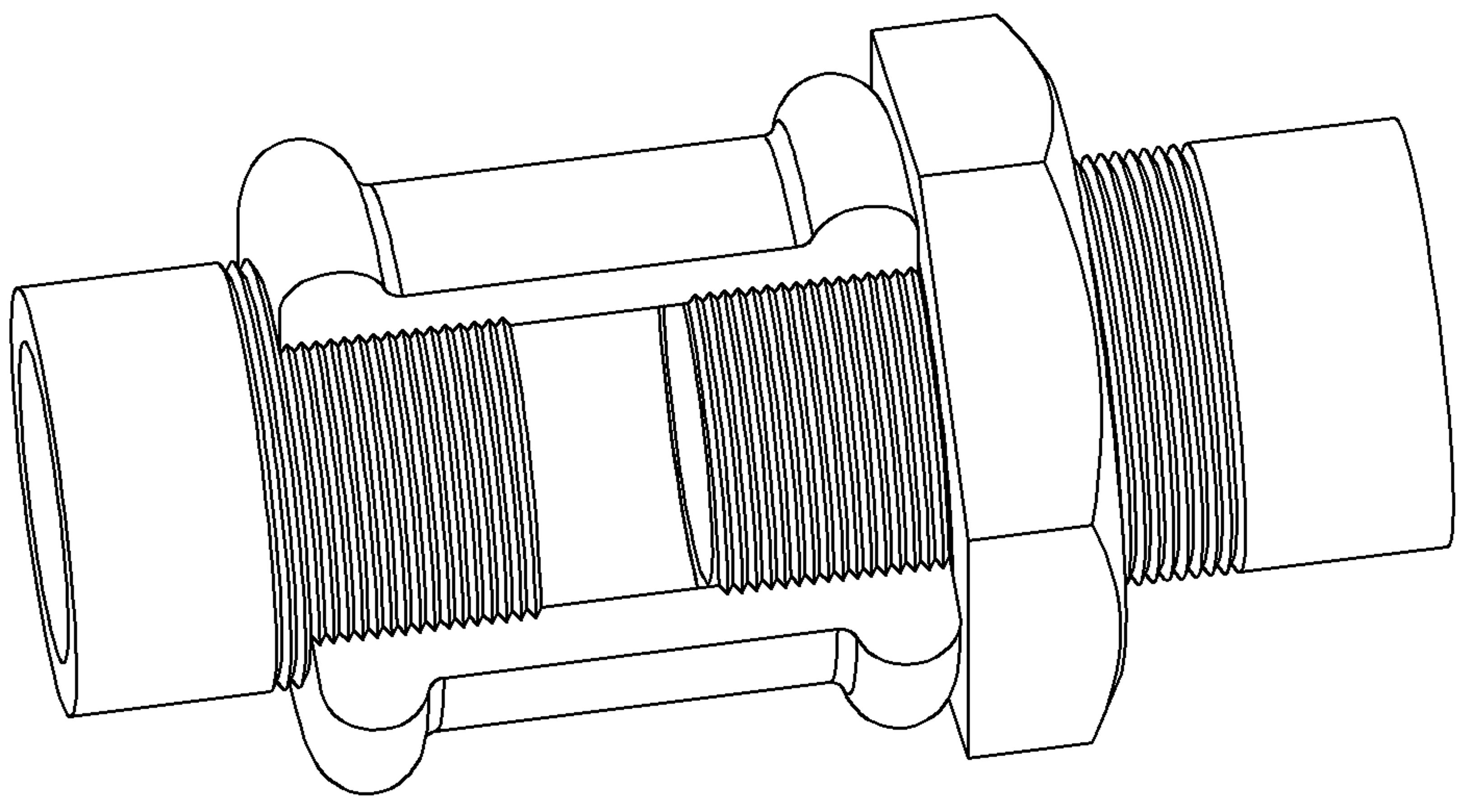 цилиндрическая или коническая трубная резьба