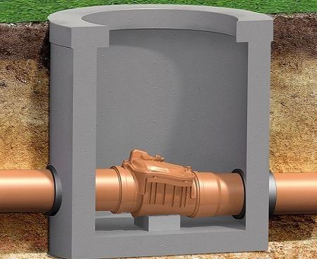 Монтаж обратного клапана на канализацию
