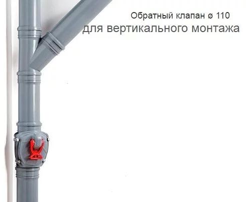 Обратный вертикальный клапан