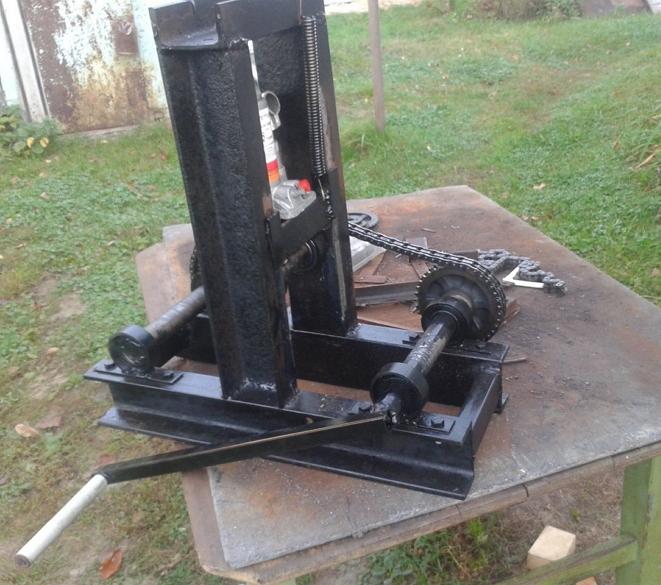 пример самодельного гибочного устройства для профильных труб