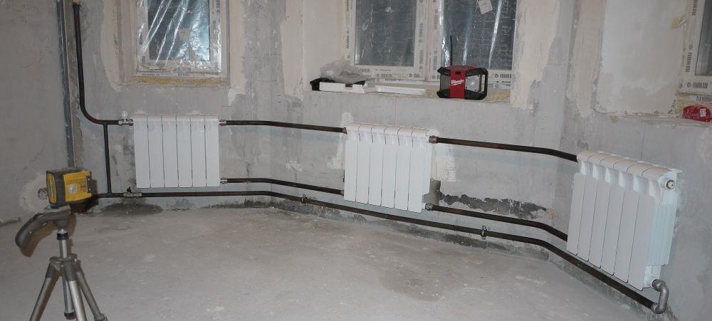 Последовательное подключение радиаторов
